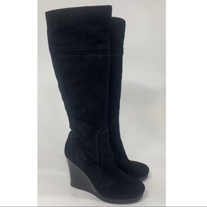 Nine West Needed tall suede wedge boots size 8.5